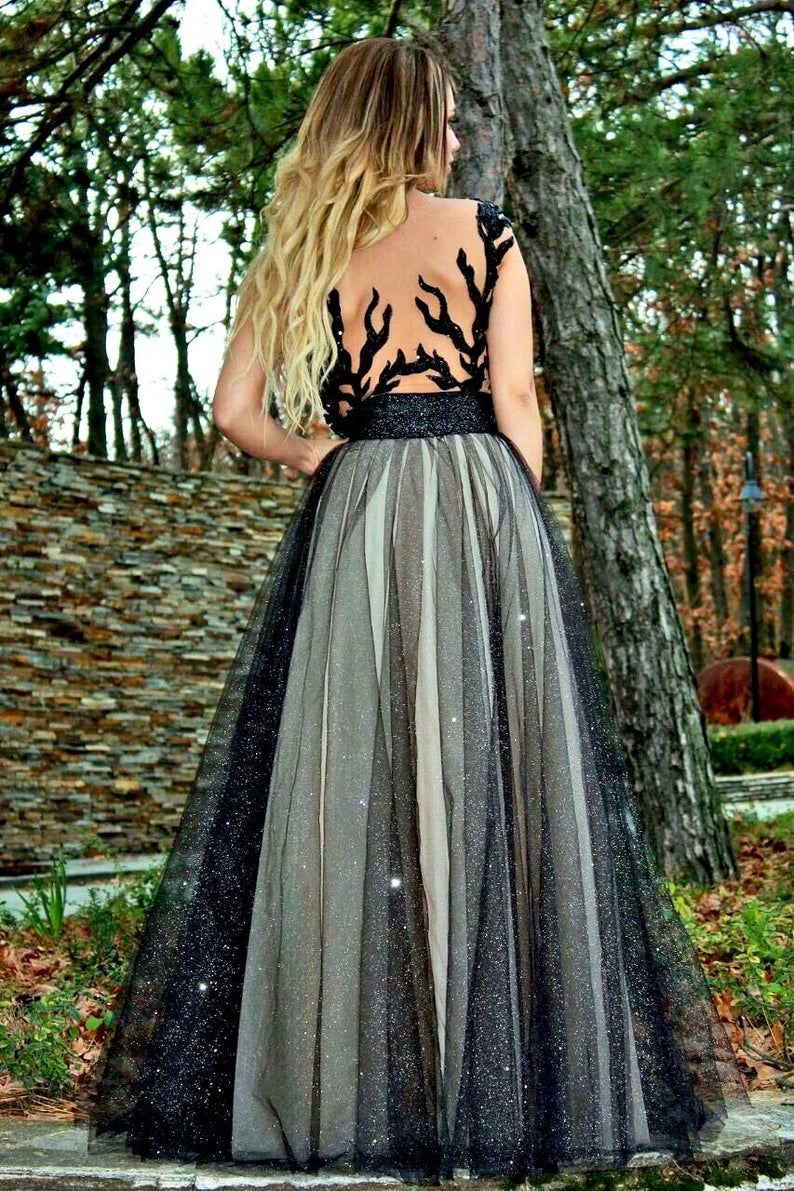 Ball Gown Black And Gold Luxury Wedding Dress Princess Prom Etsy Ball Gowns Luxury Wedding Dress Princess Wedding Dresses [ 1191 x 794 Pixel ]
