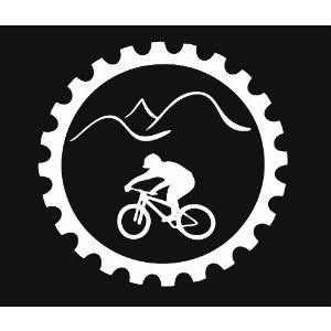 GT BIKES RETRO DECAL -BMX STICKER CIRCLE LOGO STICKER BLACK