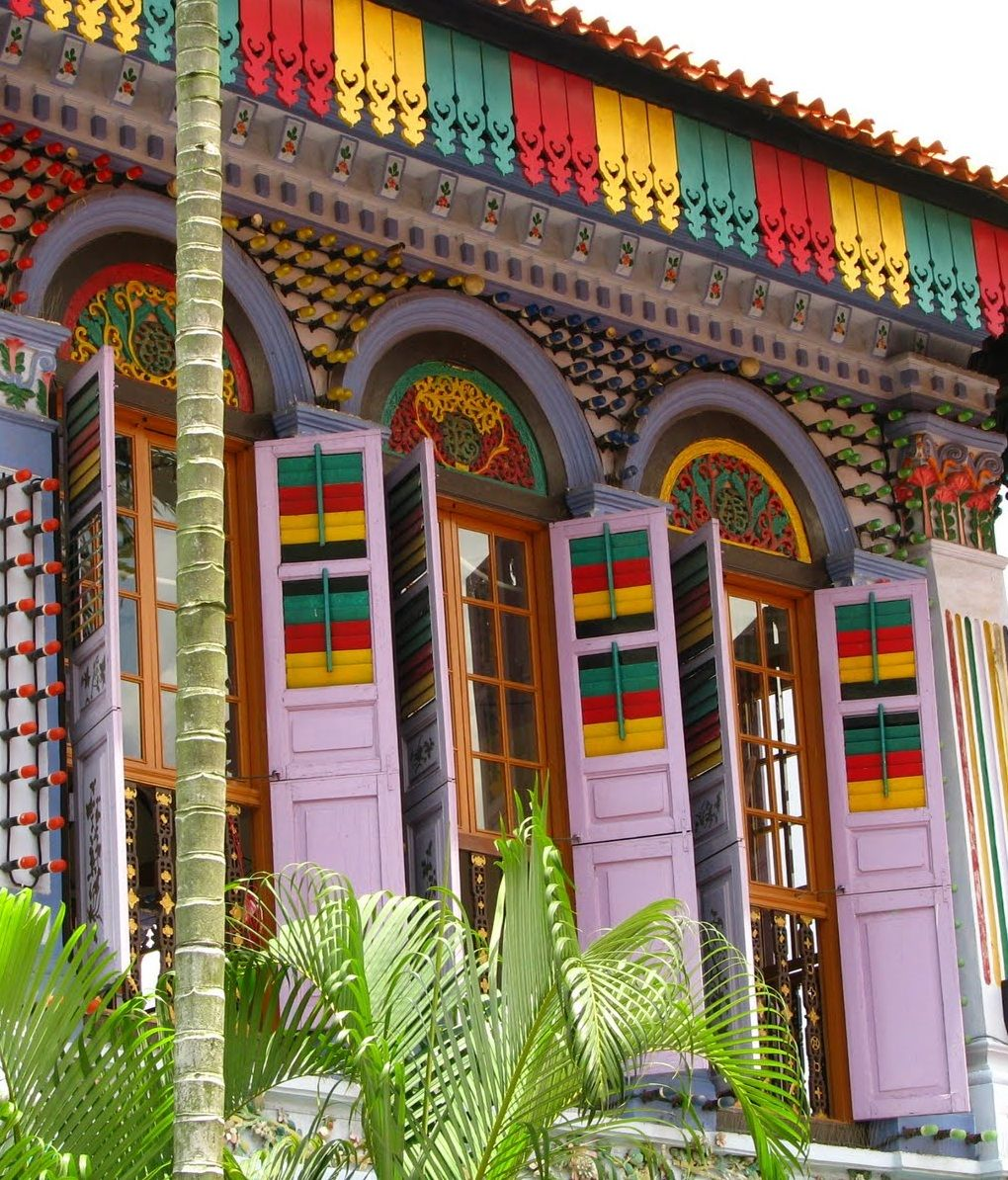 Colorful building, Little India, Singapore