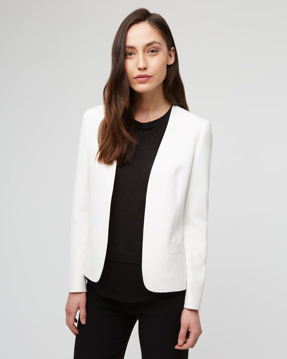 Top Rated | Cream Edge To Edge Jacket | Jigsaw UK
