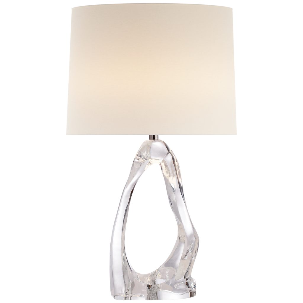 Cannes Table Lamp In Clear Gl With