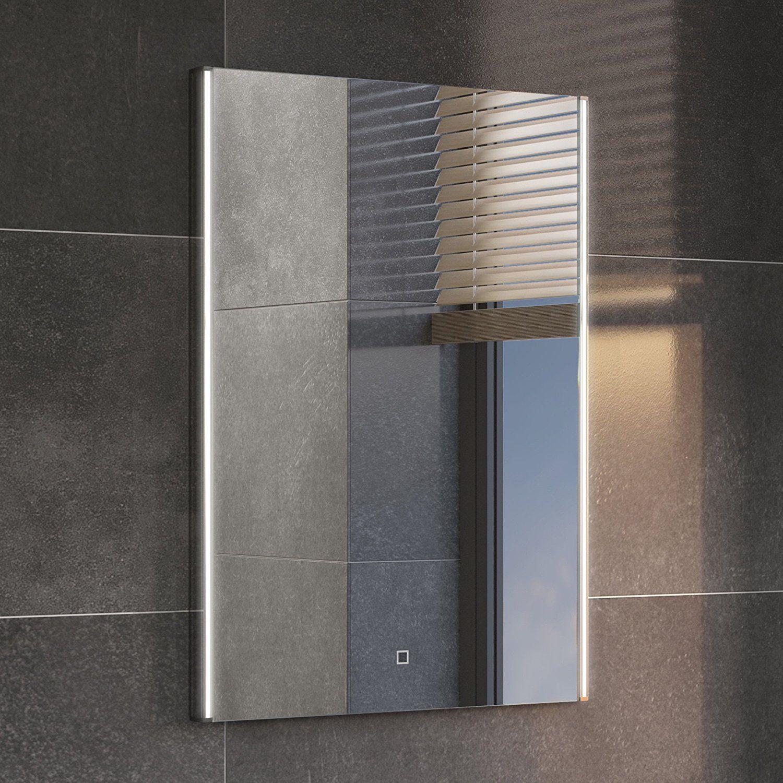 Levanto White Ceramic Wall Tile Pack Of 10 L 250mm W: 700 X 500 Mm Modern Illuminated LED Bathroom Mirror Light