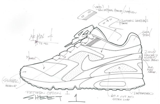 Here S A Look At Tinker Hatfield S Original Sketch For The Nike Air Max Bw Air Max Classic Nike Air Nike Classic