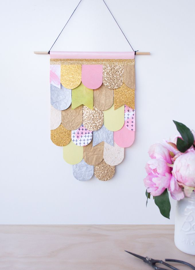 diy paper wall hanging~very laura blythman inspired