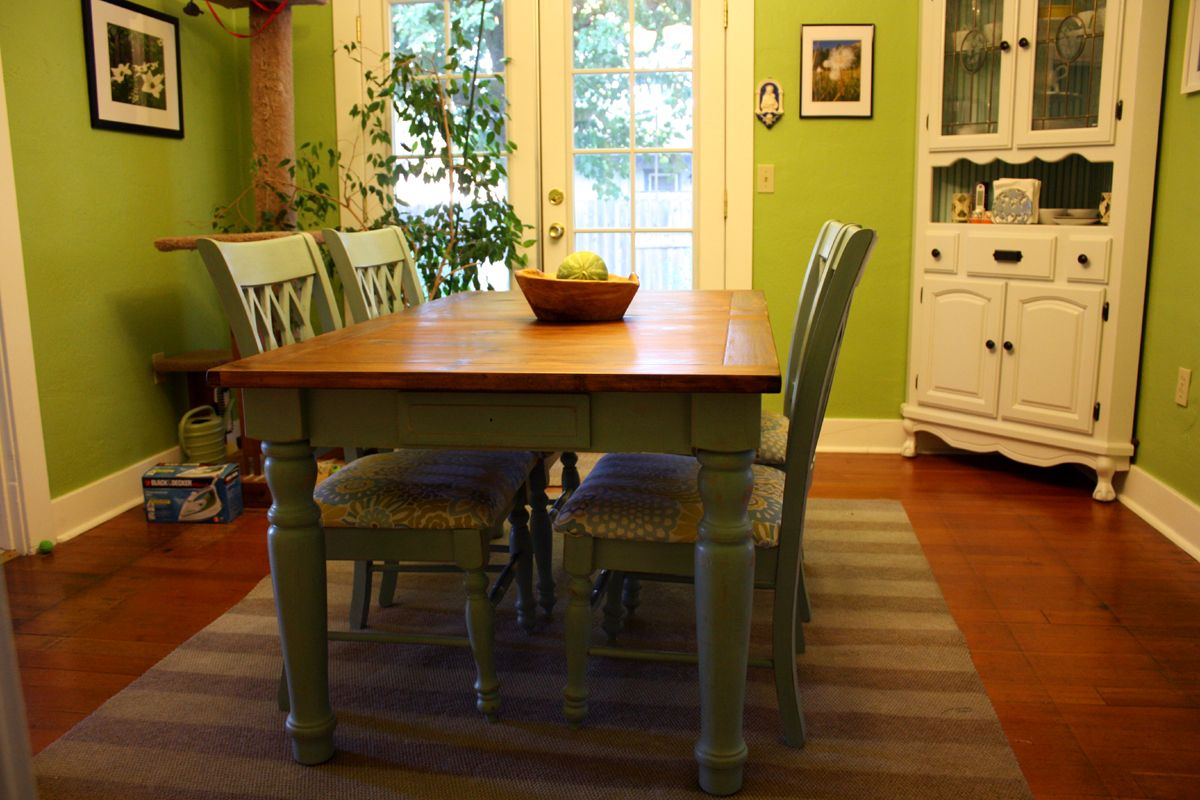 Painting Wooden Kitchen Table And Chairs - Kitchen Design Ideas ...