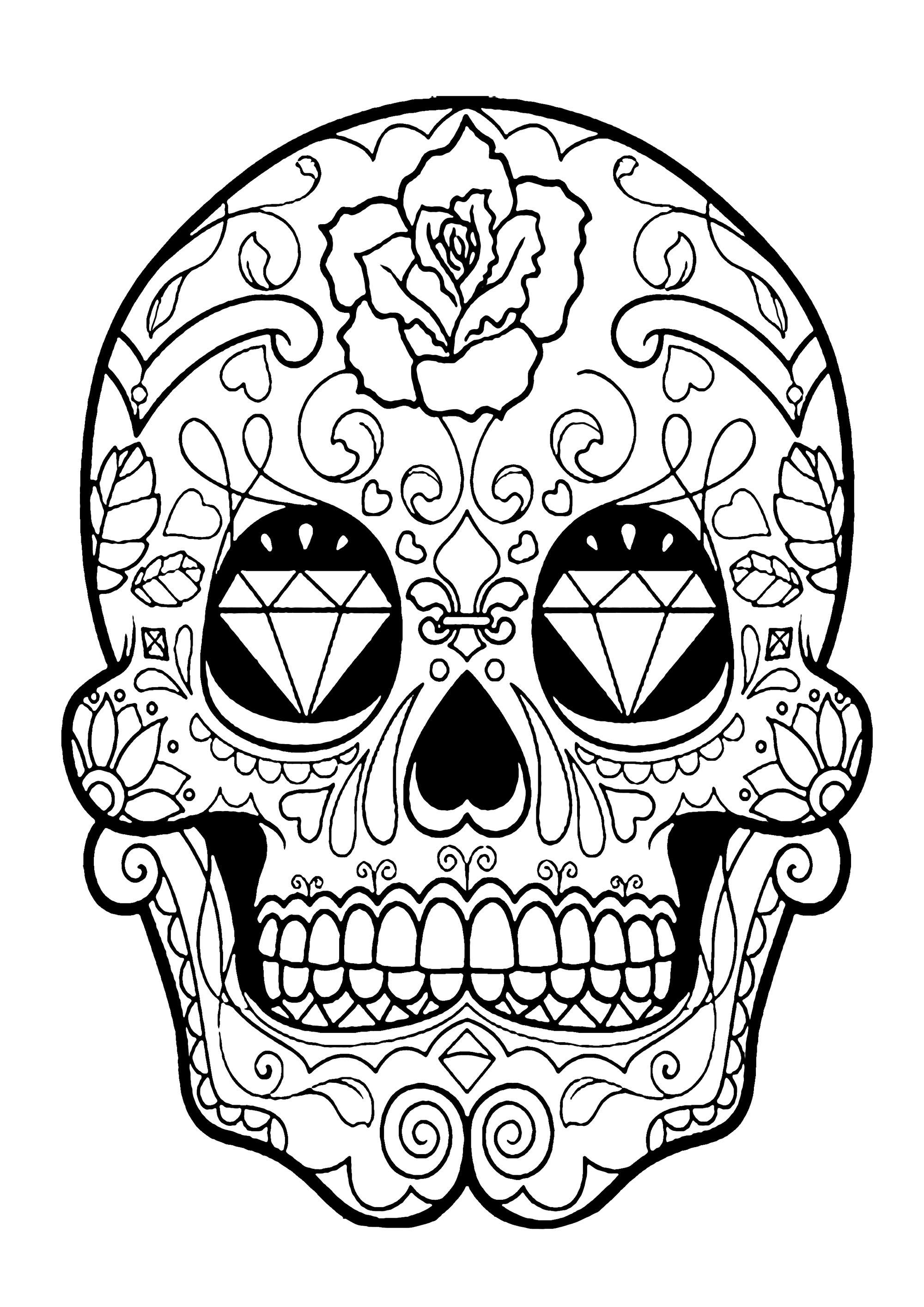 El Dia De Los Muertos 5 El Dia De Los Muertos Coloring Pages For