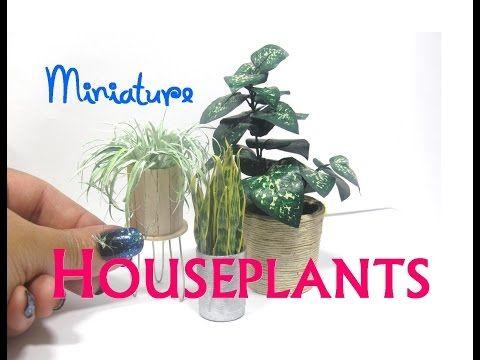 DIY Paper and Aluminum Foil Houseplants Plants Dollhouse Miniature Furniture - YouTube