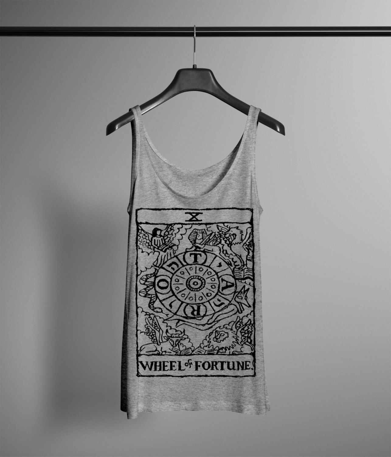 Mens Crowned Lion Tank - Hand Drawn Graphic Tank - Graphic Tee- Graphic Tank Top - Occult Shirt o4yUAGAZY