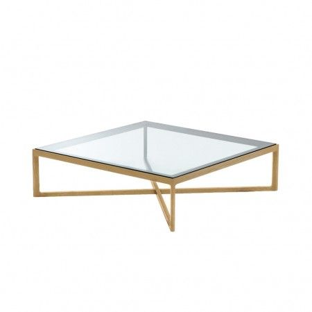 Table Basse Carree Chene Naturel Et Verre Knoll Table Basse Carree En Verre Table Basse Table Basse Carree