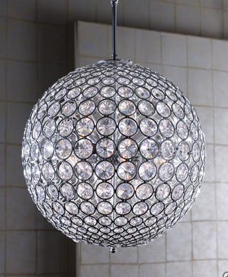 To Chic Round Lights And Crystal Ball Chandeliers