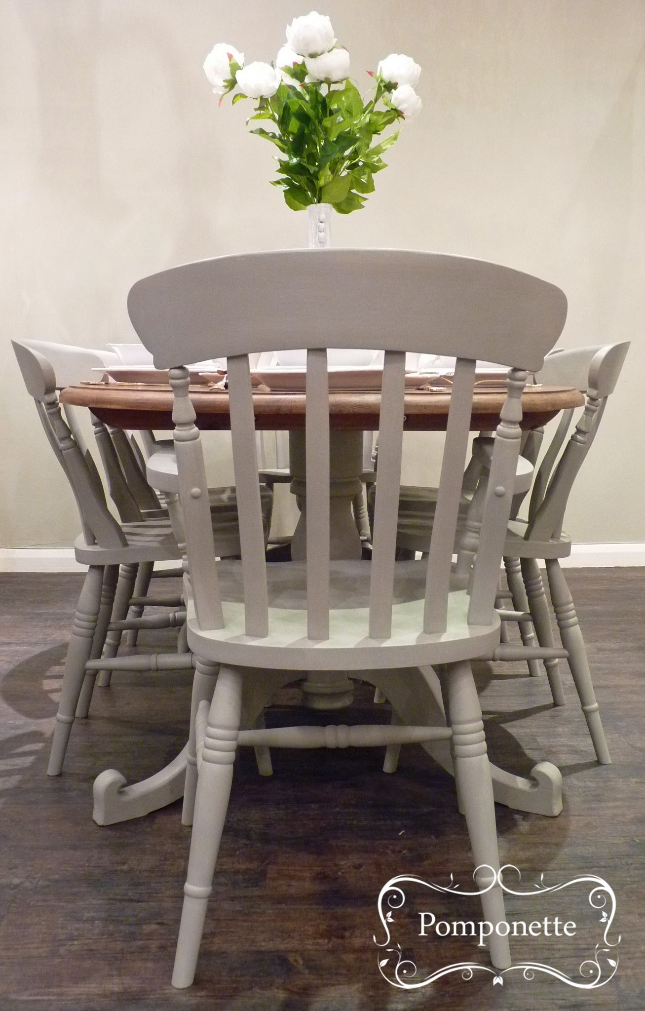 Oval Dining Table u0026 Six Chairs Chalk