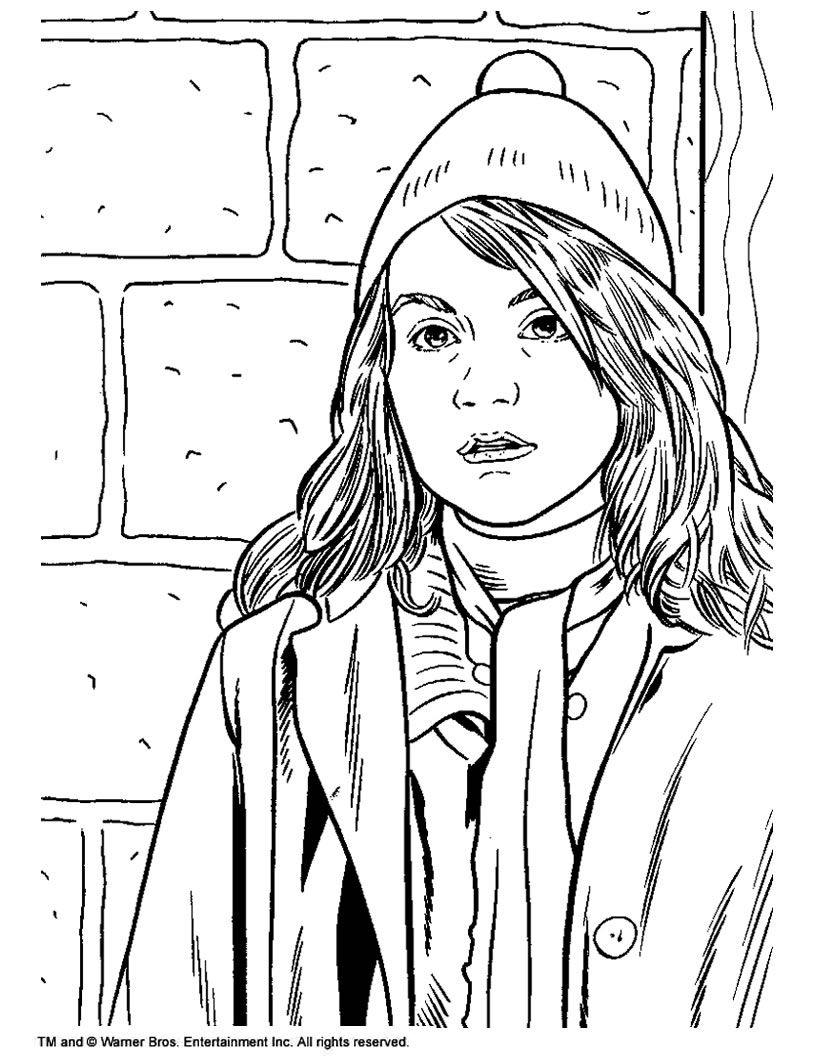 Harry Potter Coloring Page Harry Potter Hermione Granger Hermione