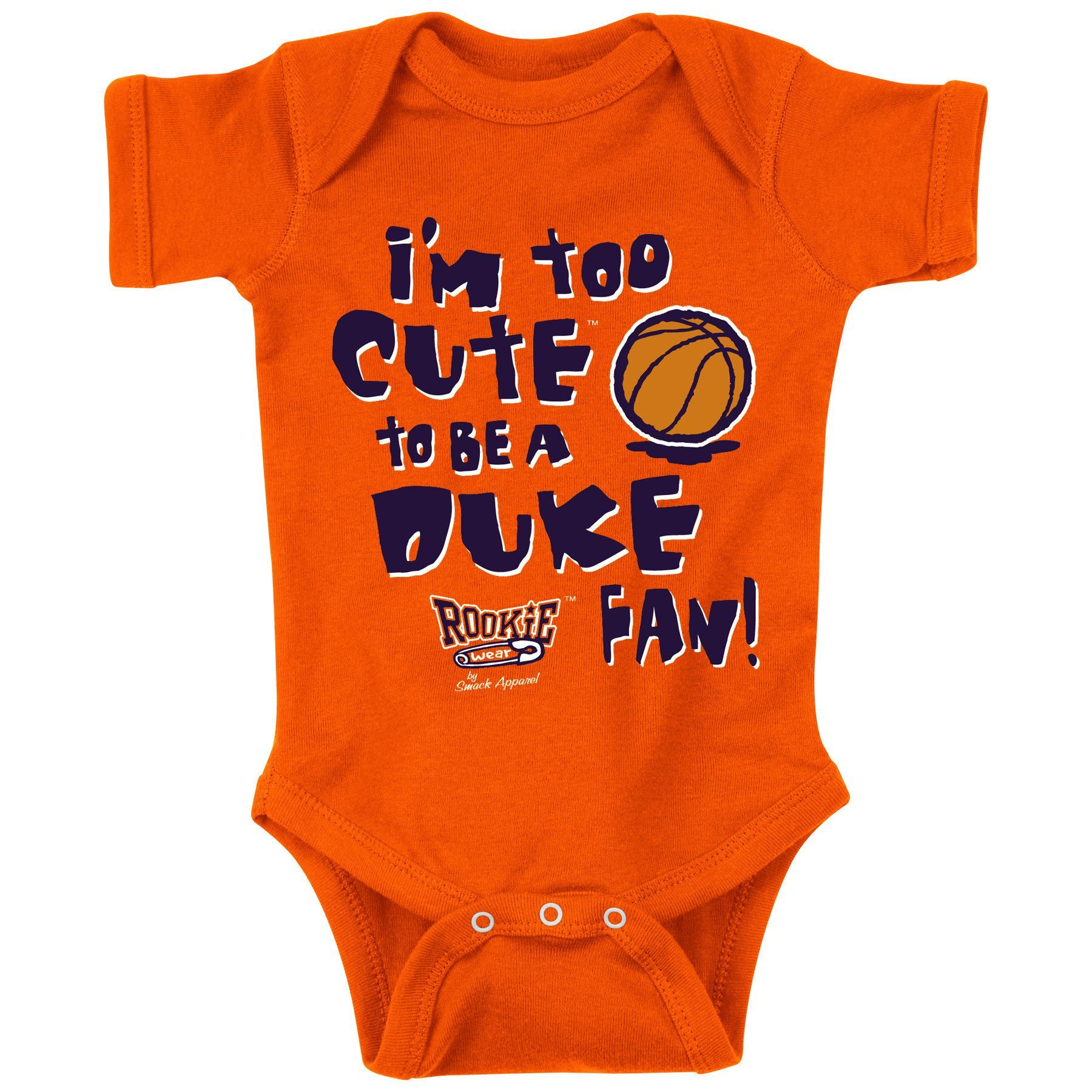 Syracuse Orange Fans Too Cute Anti Duke esie NB 18M