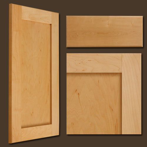 photos natural maple shaker style cabinet doors with solid drawer ...