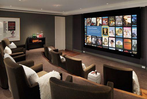 C mo crear una sala de cine en casa house room and - Sala de cine en casa ...