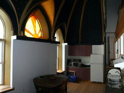 Converted apartments in an old church