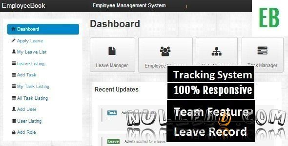 employee login and logout management system