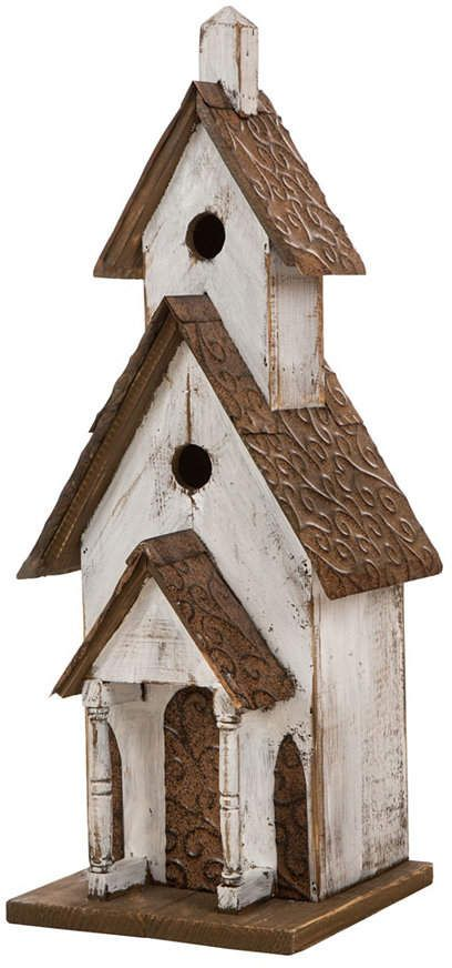 Glitzhome Extra-Large Rustic Wood Birdhouse & Reviews - Home - Macy's