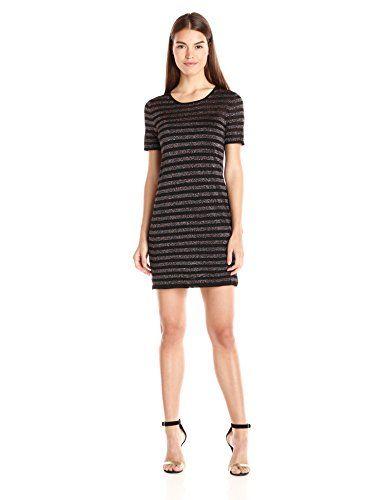 83aed3949e nice Trina Turk Women s Taylor Lurex Stripe Short Sleeve Sweater Dress