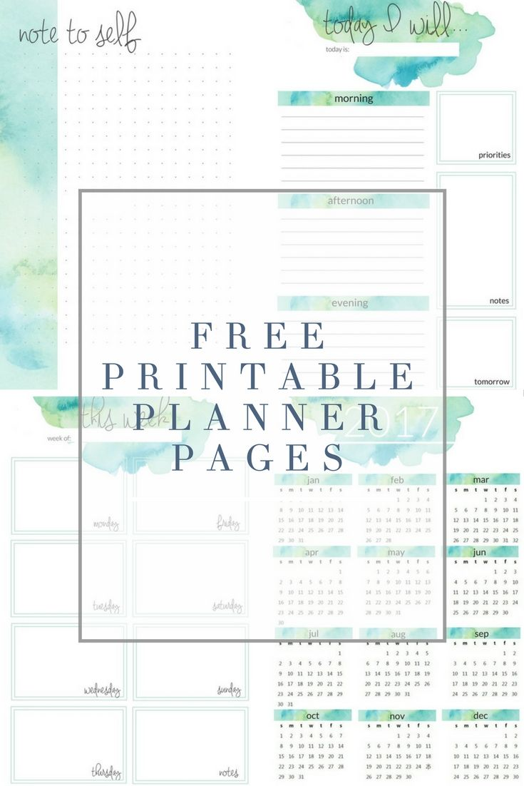 Stupendous image throughout planner printable