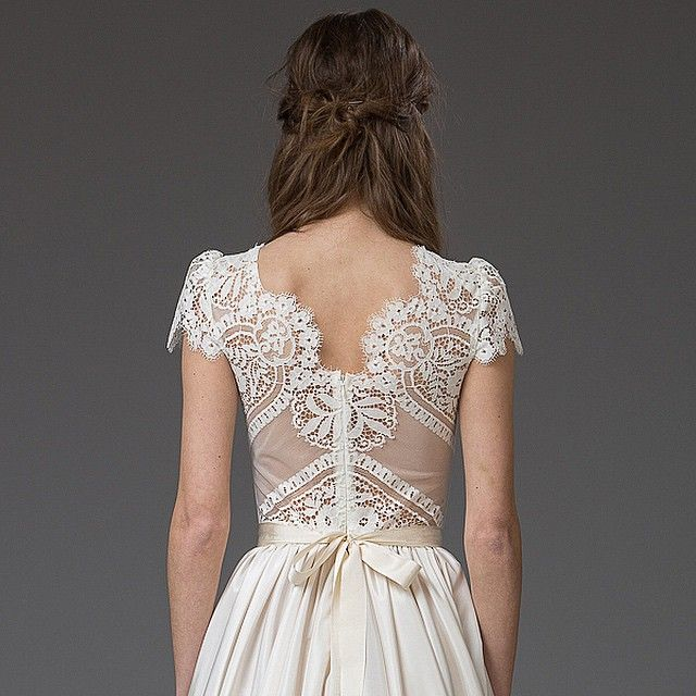 As far as wedding dress backs go, this one is really very lovely, don't you think? Tomorrow, we blog the brand new collection from @Shehurina. Here's a tiny preview for you