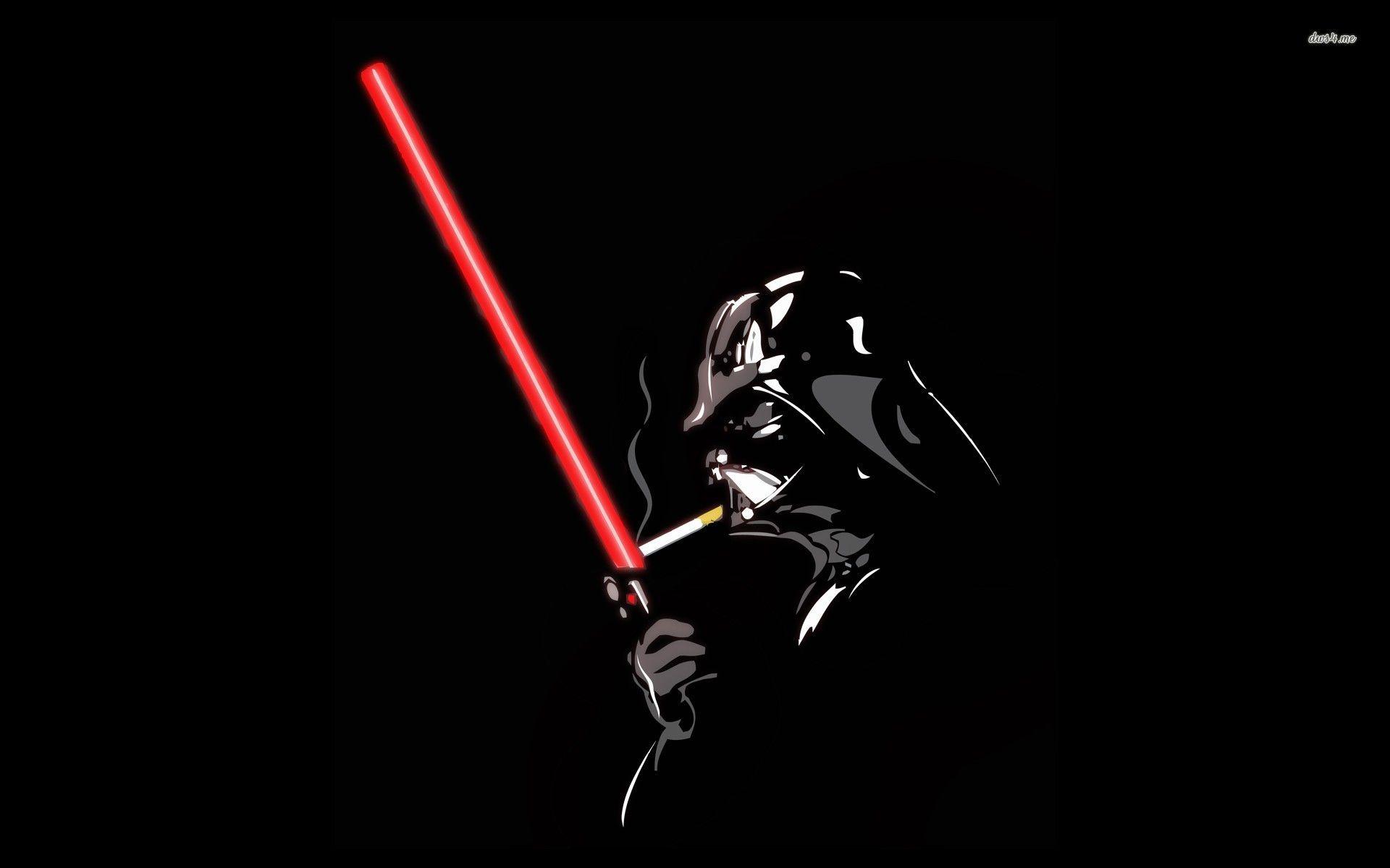 Darth Vader And His Lightsaber Hd Wallpaper Darth Vader Wallpaper Star Wars Wallpaper Darth Vader