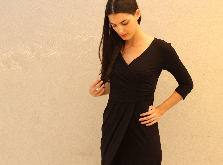 Black wrap dress style u inspiration pinterest wrap