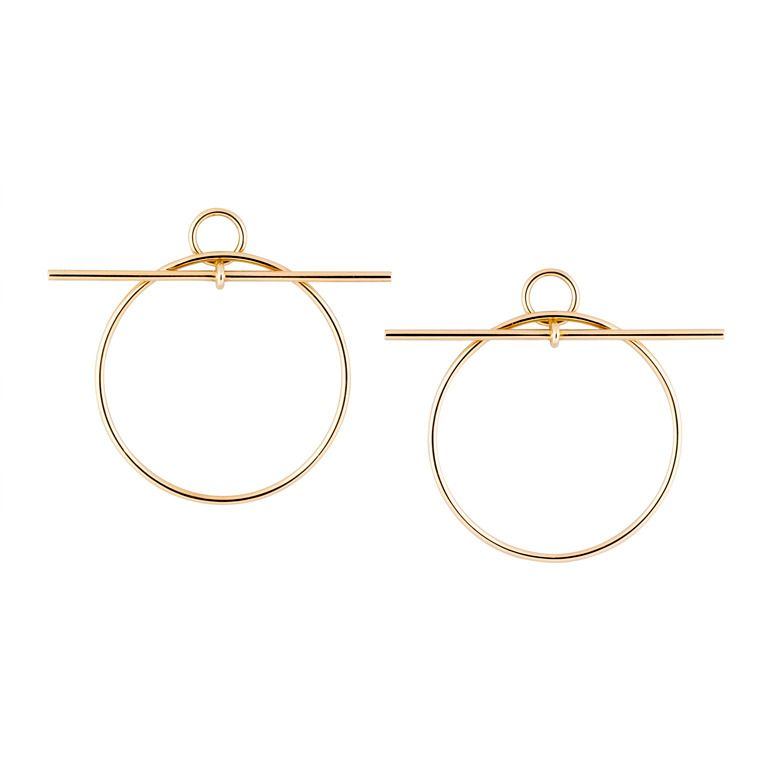 Hermes Gold Hoop Earrings From A Unique Collection Of Vintage At Http