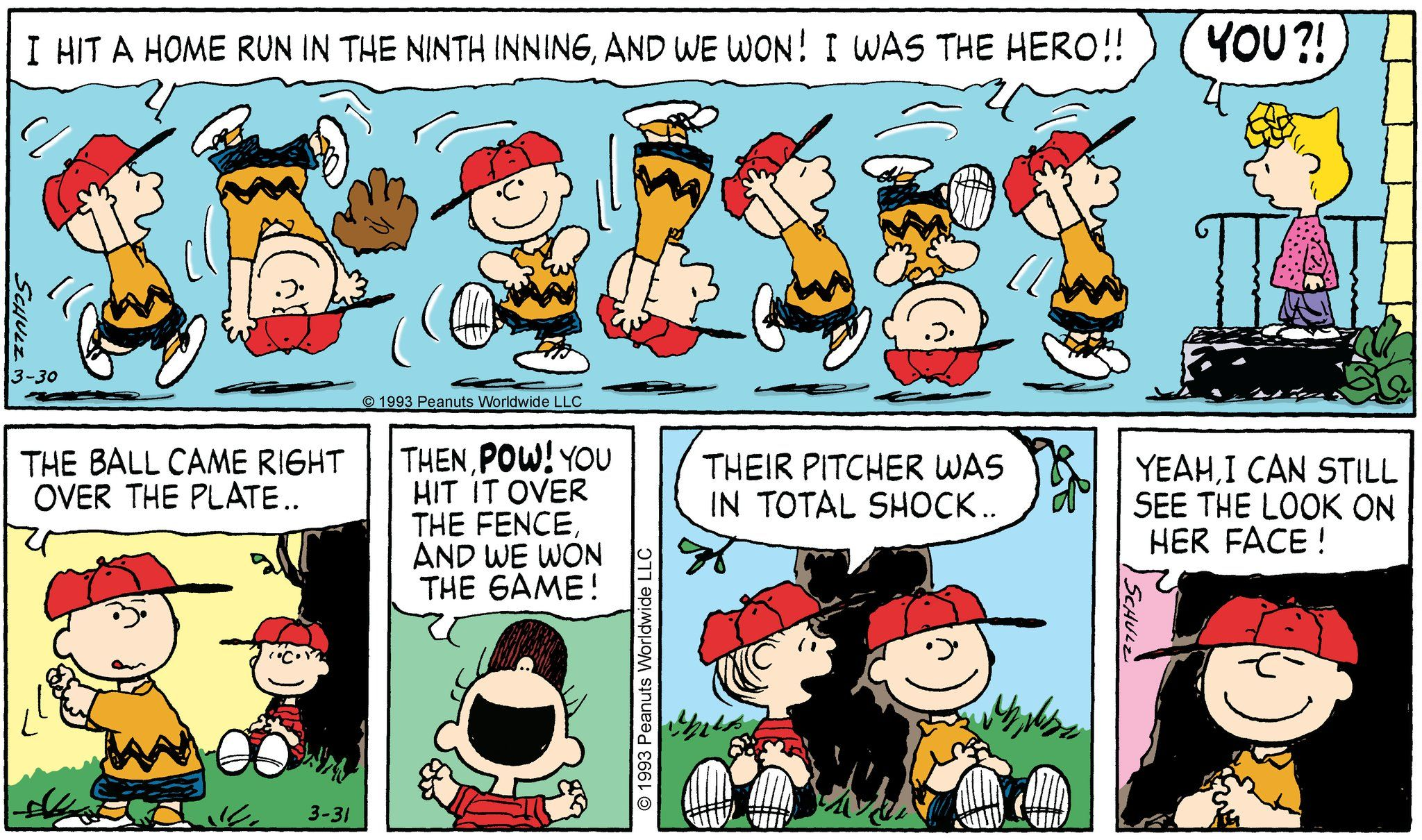 Image result for charlie brown home run