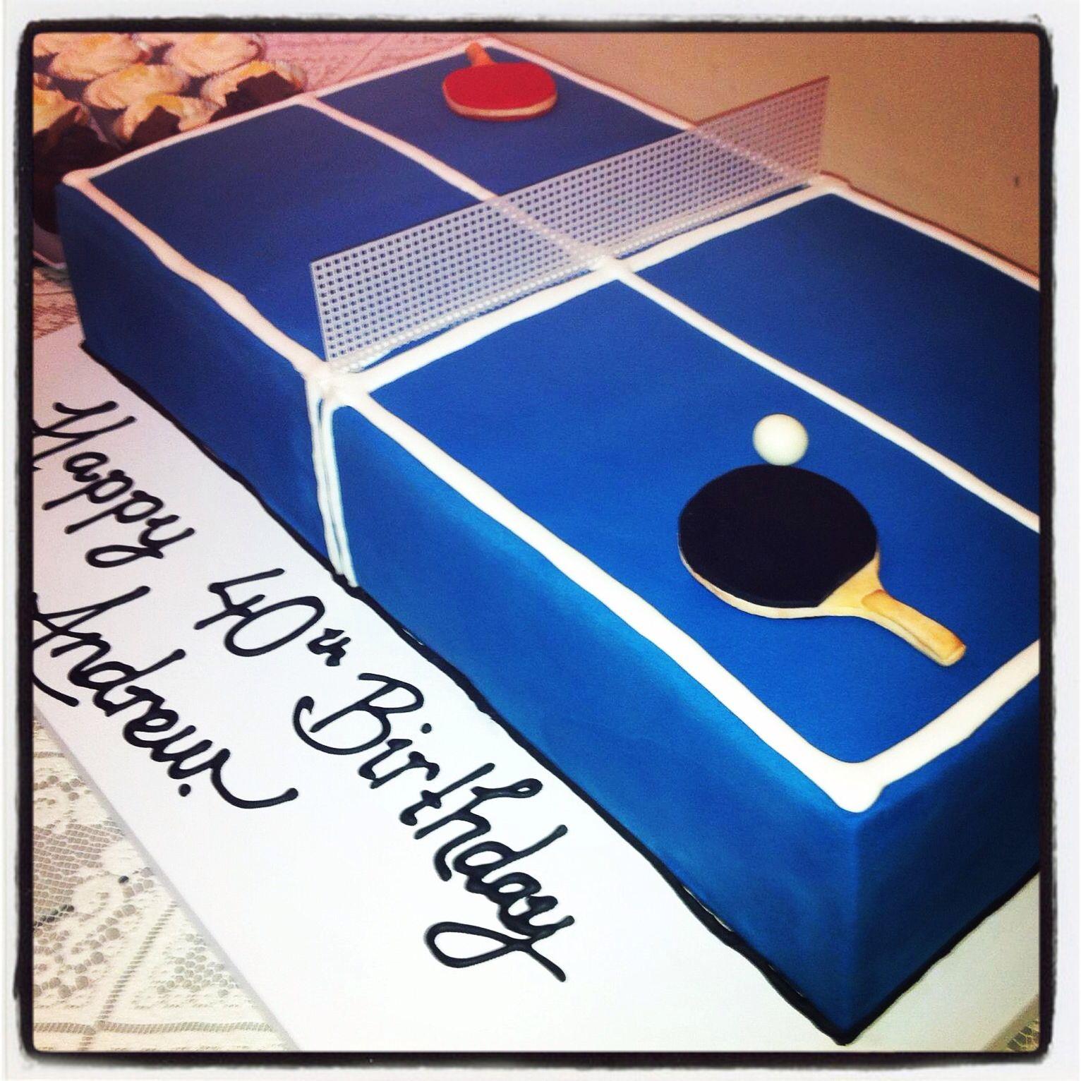 Ping Pong Table Cake Tennis Cake Groomsman Cake Trending Cookies