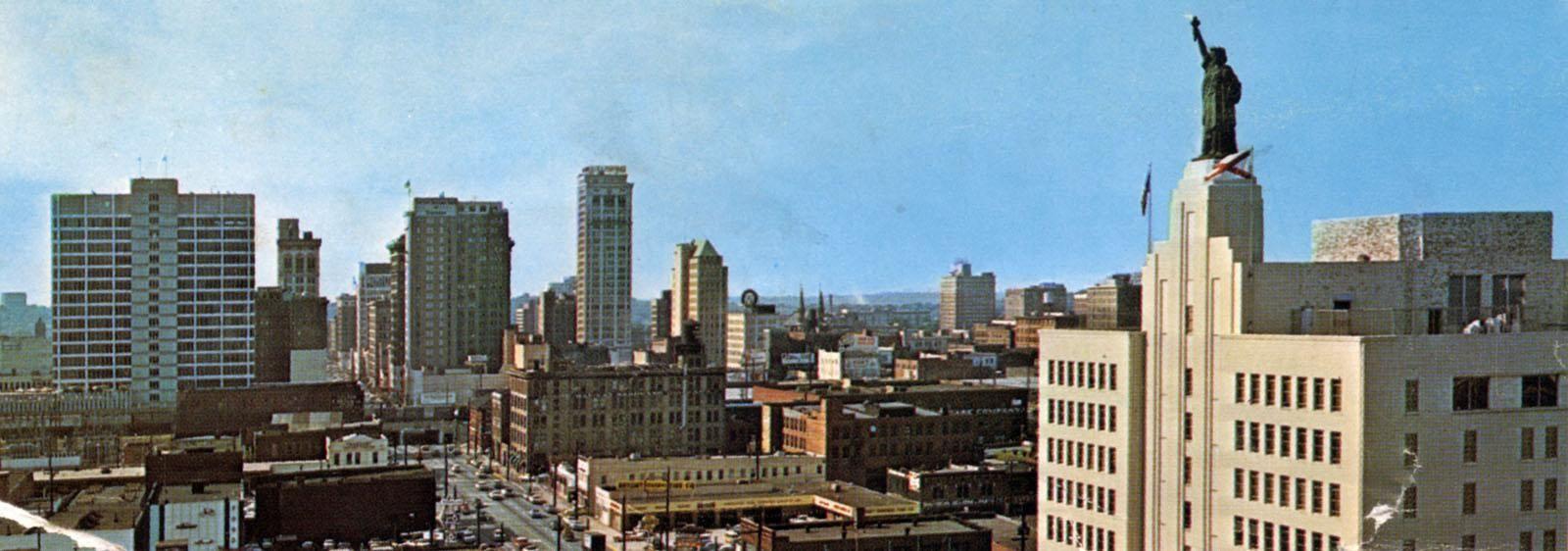 Birmingham Skyline From Parliament Hotel 1960s Birmingham