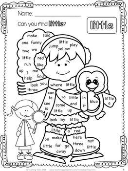 WINTER SIGHT WORD FREEBIE - TeachersPayTeachers.com