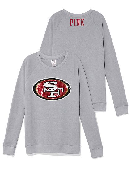 San Francisco 49ers Bling Crew PINK