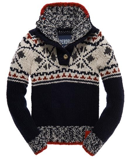 Superdry Sweaters | Pull Hipster Henley In Navy | Poshmark