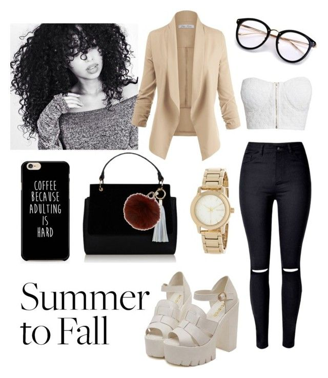 """#Summer2Fall"" by mappfrance ❤ liked on Polyvore featuring NLY Trend, Yves Salomon and DKNY"