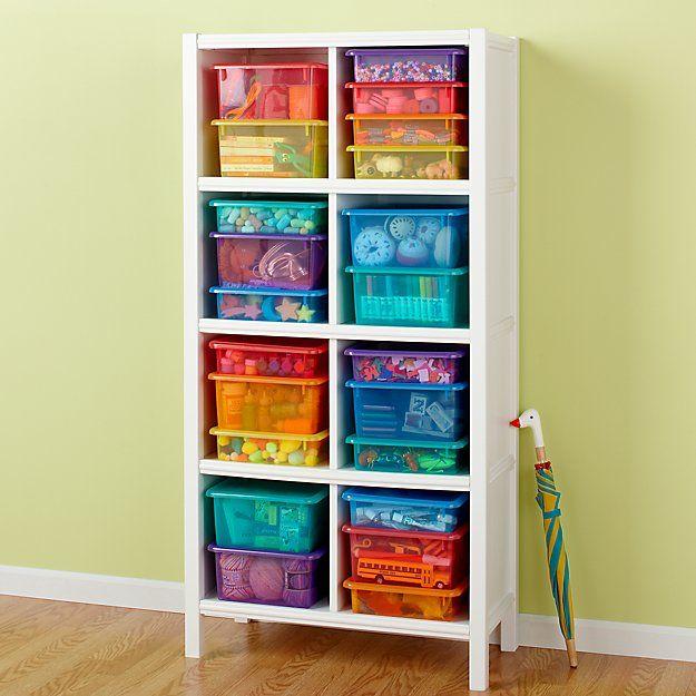 Blue Medium Top Box | The Land Of Nod Lego Storage, Kids Storage, Cube