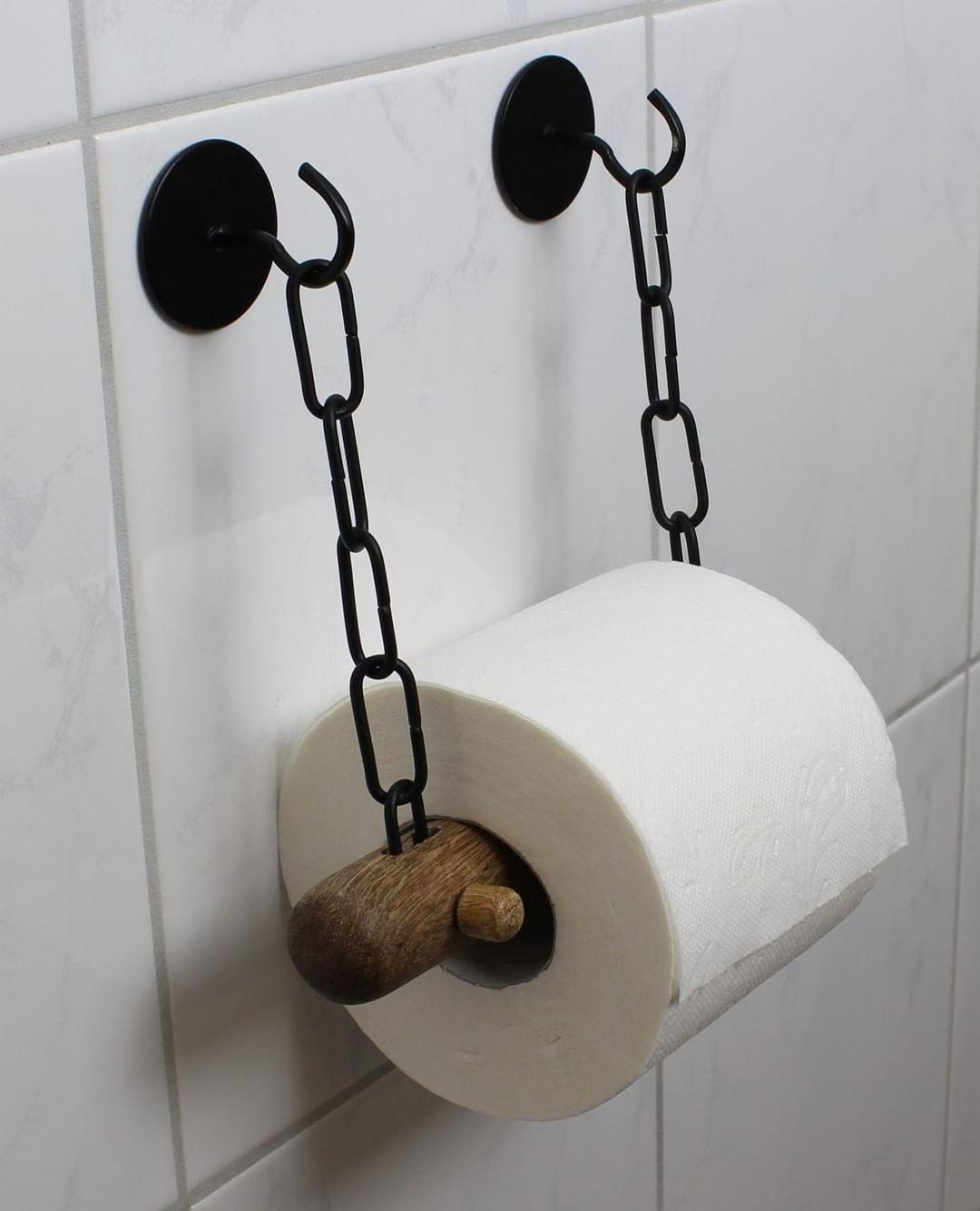 Toilettenpapier Halter Toilettenrollenhalter Papier Badezimmer WC Rollenhalter