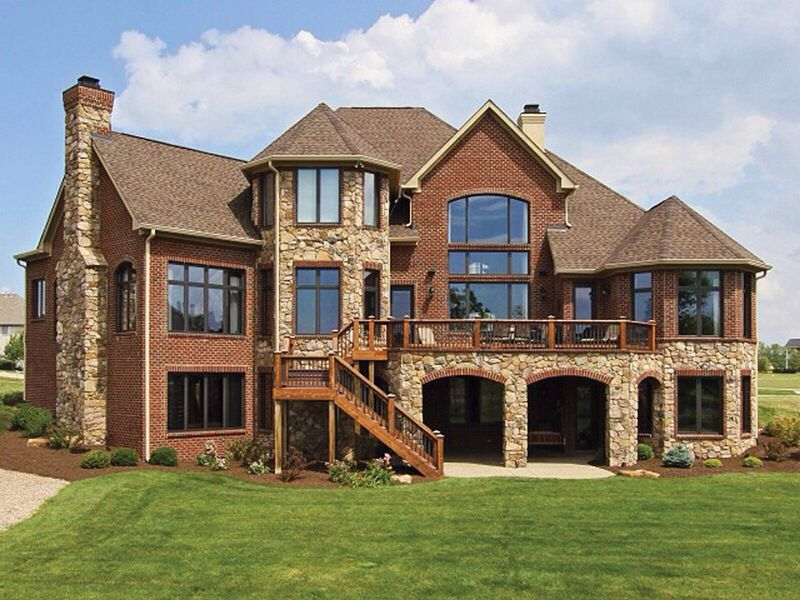 nice beautiful brick and stone homes #5: Timber Frame Exterior and interior Design - Authentic Timber Frame. Warm,  earthly vibes. nothing square and boxy. I want to live in the woods like u2026