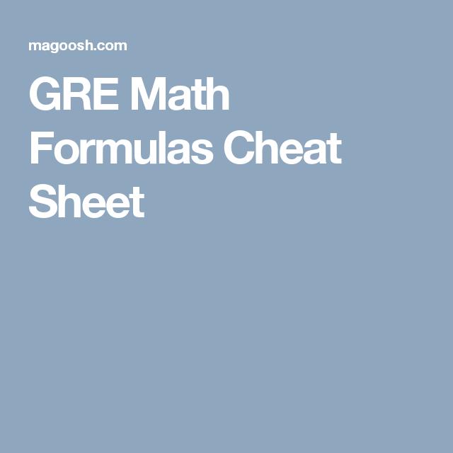 GRE Math Formulas Cheat Sheet | Free Maths ideas | Pinterest | Gre ...