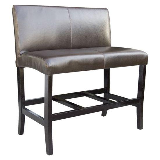The Sofa Company 2 Person Leather Rialto Double Bar Stool In Los