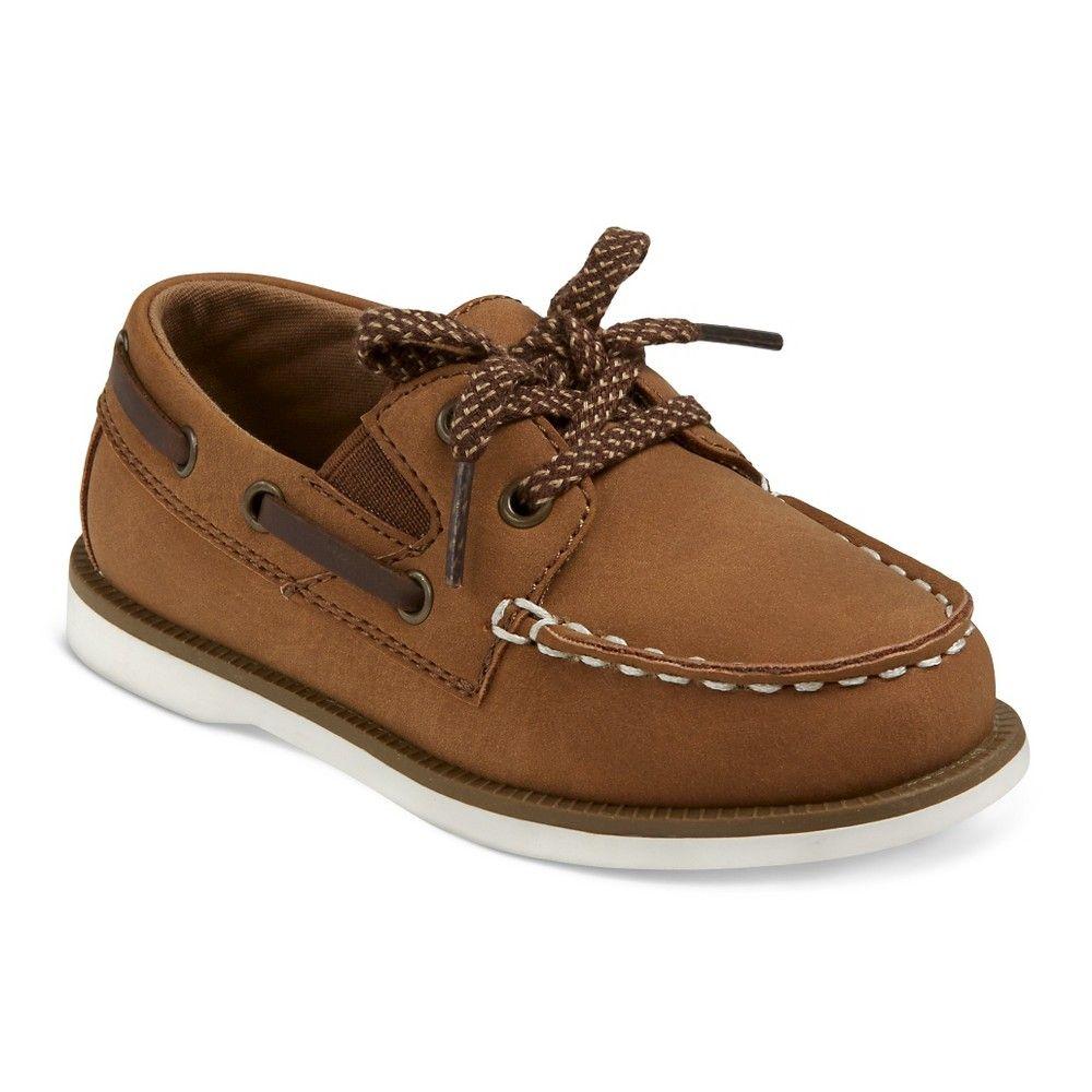 Toddler Boys' Clive Boat Shoes Cat & Jack - Brown 5, Toddler Boy's
