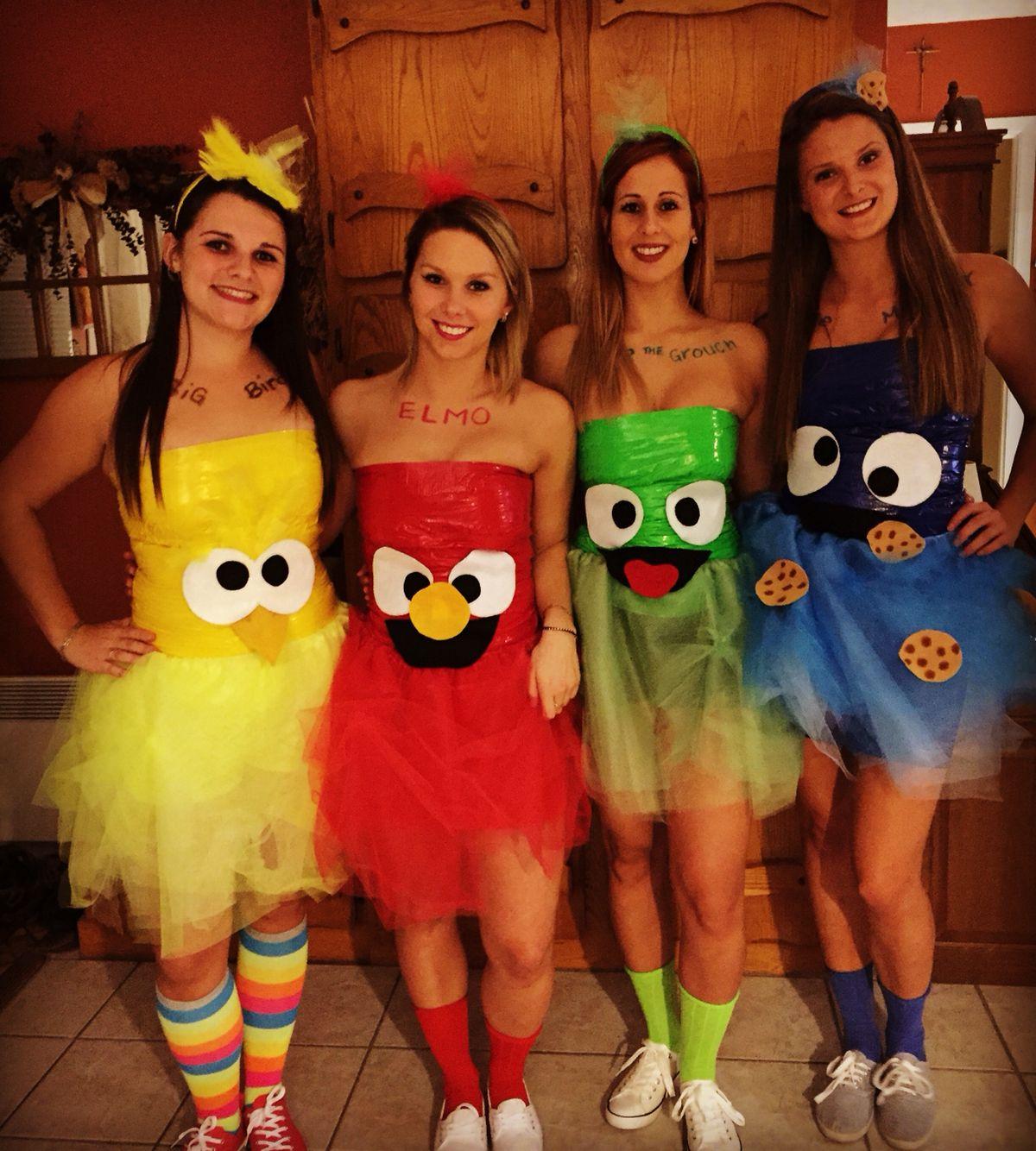 Sésame street costume #bffhalloweencostumes