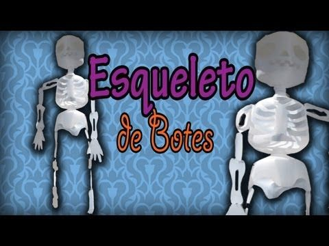 Esqueleto de Galones para HALLOWEEN// Deco // Reciclaje | Eco ...