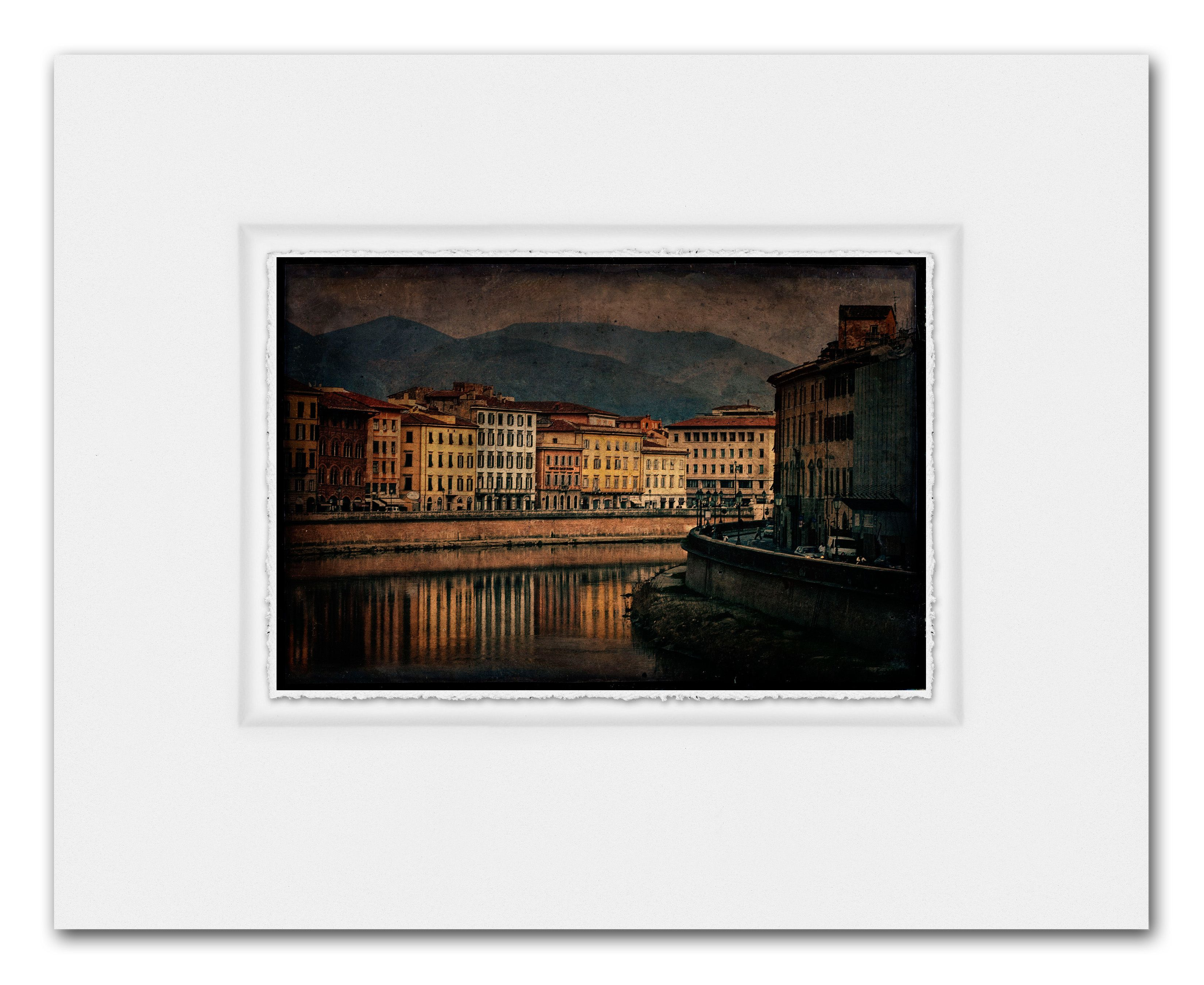 Print on watercolor paper, deckle edges with inset panel/float mount ...