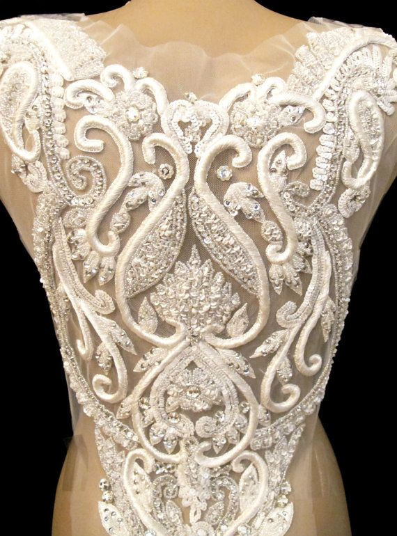 Rhinestone Applique for Backless Gown Open Back Wedding Gown ...