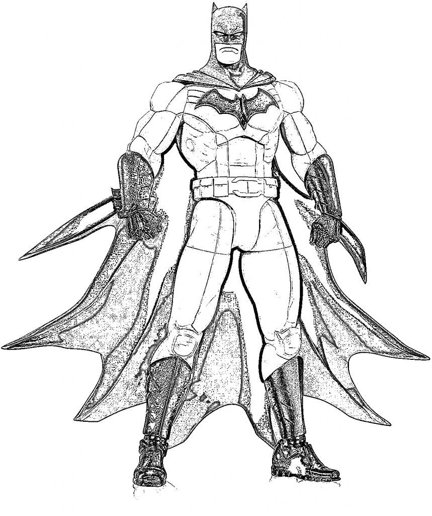 Batman Ausmalbilder Zum Ausdrucken Batman Bilder Ausmalen Superhelden Malvorlagen