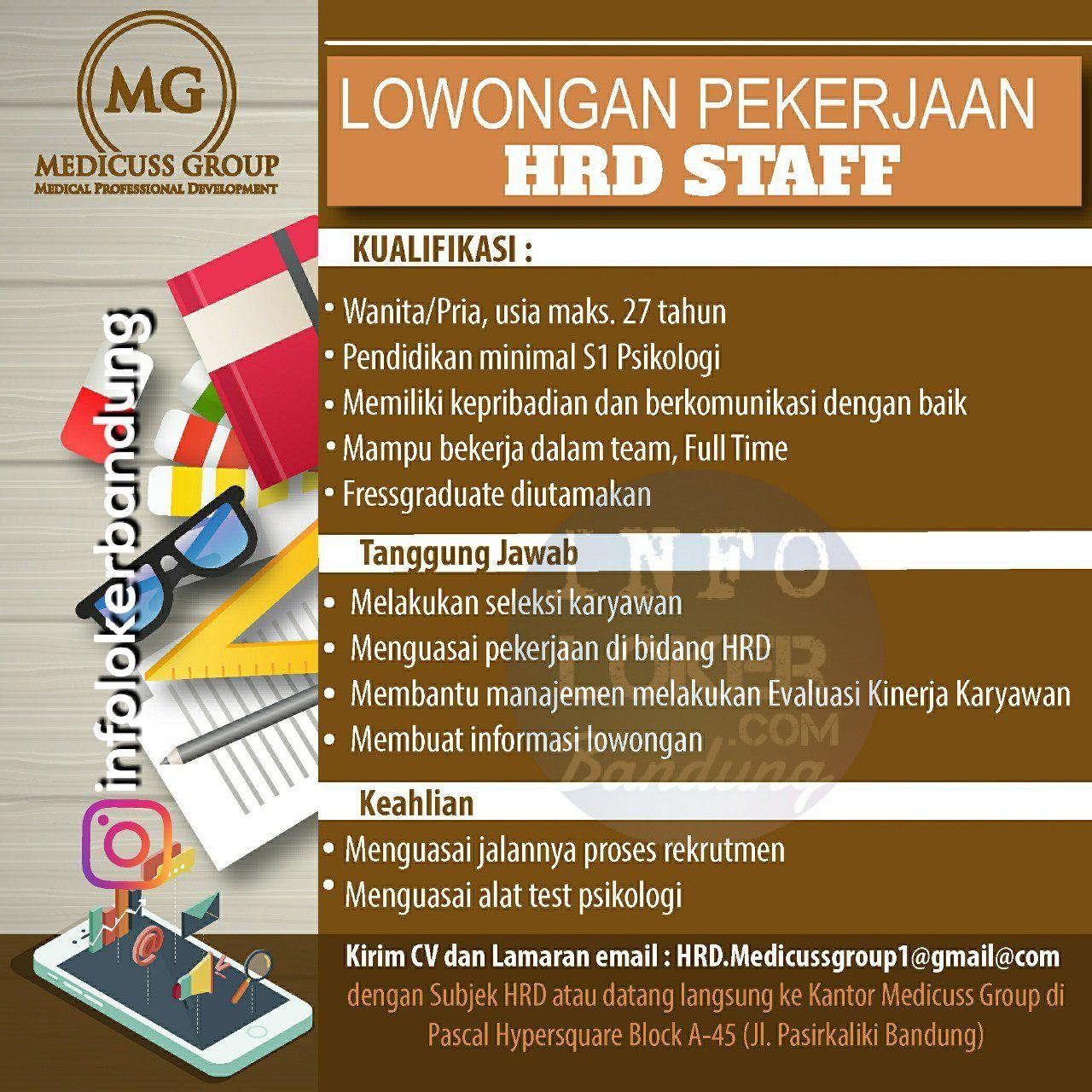 Lowongan Kerja Hrd Staff Medicuss Group Bandung Mei 2018 Mei