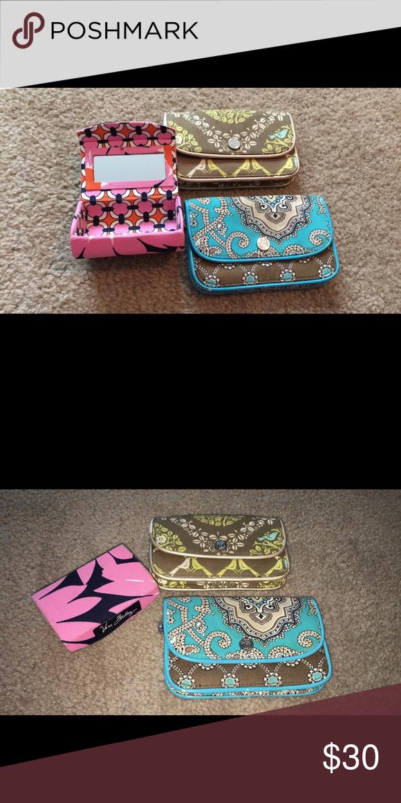 Vera Bradley mini bag and lipstick case set Vera Bradley, 3 piece set, lipstick case with mirror Bags Mini Bags