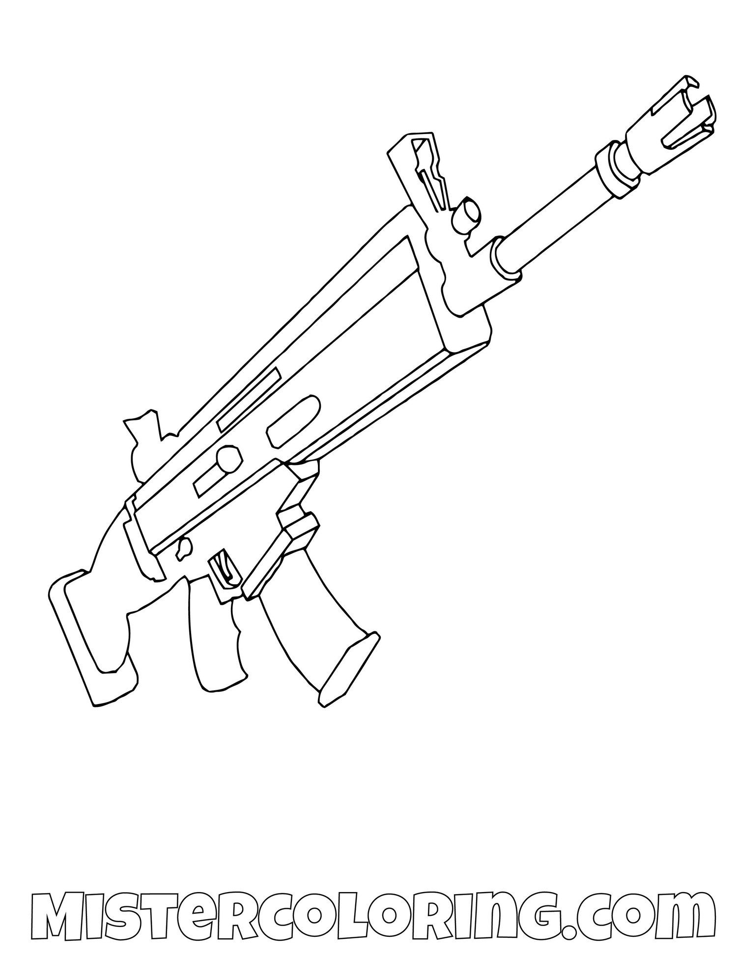 Scar Fortnite Coloring Page