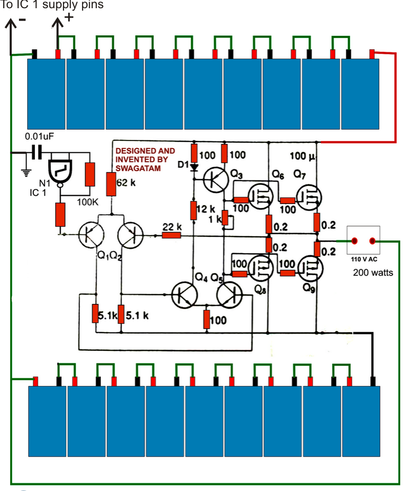 inverter circuit diagrams without transformer wiring diagram Parallel Circuit Diagram 3 best transformerless inverters with circuit diagrams homemade